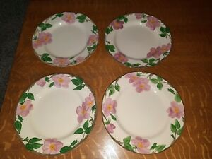 "4 Franciscan Desert Rose 10-5/8"" Dinner Plates"