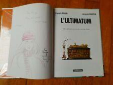 Francis Carin dessin original dédicacé l'album de J.Martin l'Ultimatum EO