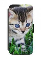 HTC ONE  Katze Cat Tier Flipcase Tasche Flip Hülle Case Cover Schutz Handy V9