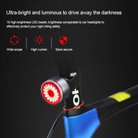 Intelligent 15LM 16 LED Bike Rear Light 200M Safety Night Riding Tail Light Lamp
