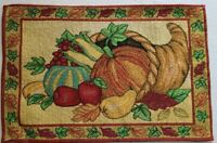 Harvest Season Pumpkin Placemats Set of 4 Fall Thanksgiving Tapestry Decoration