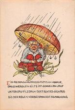 "alte Künstlerkarte  R.ü.  "" Zwerg unterm Pilz"" ""2798"" 1950"