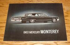 Original 1963 Mercury Monterey Deluxe Sales Brochure 63 S-55 Colony Park Custom