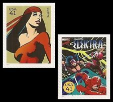 US 4159i 4159s Marvel Comics Super Heroes Elektra 41c 2 stamps MNH 2007