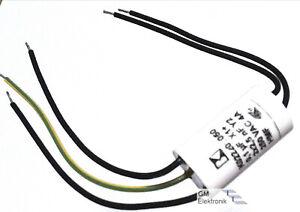 Entstörkondensator (Vierpolkondensator) für Kleinmotoren 0,1μF X1 + 2 x 2,5nF Y2