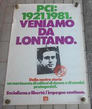 PCI PARTITO COMUNISTA ITALIANO AFFICHE MANIFESTO POSTER 1981 TESSERAMENTO