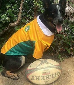 Wallabies Australia Dog Jersey Shirt size 35cm length with collar - new