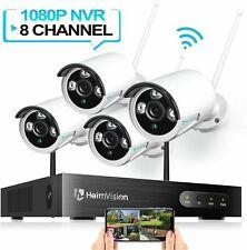 8Ch 1080P Wireless 4Pcs Nvr Wifi Security Cctv Ip Camera Surveillance System Kit
