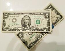 ETATS-UNIS- 2 billets de 2 Dollars américain - LIVRAISON GRATUITE