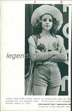 1976 Jodie Foster as Prostitue in Taxi Driver Original News Service Photo