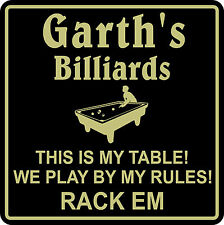 Personalized Pool Room Billiards Bar Beer Pub Gift Sign #5 Custom USA Made