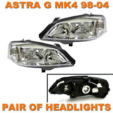 VAUXHALL ASTRA G MK4 1998-2004 HEADLIGHTS HEADLAMPS 1 PAIR LEFT & RIGHT