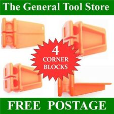 SET of 4 BRICKIES LINE BLOCKS. 4 PLASTIC L SHAPED CORNER BLOCKS BRICK LAYING