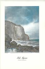 VINTAGE  PRINT OF EARLY PICTURESQUE AMERICA - 1874 - LAKE SUPERIOR