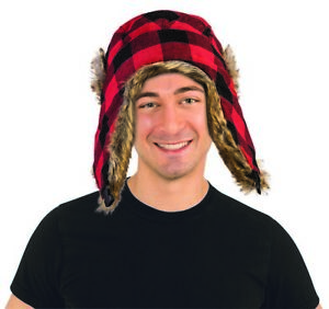 Forum Novelties Lumberjack Red and Black Hat
