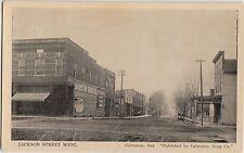 Indiana In Postcard c1910 GALVESTON Jackson St STORES Drug Co Pub.