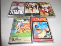 Lot of Five Various Cassette Tapes Titanic Oak Ridge Boys Best of Movies & more