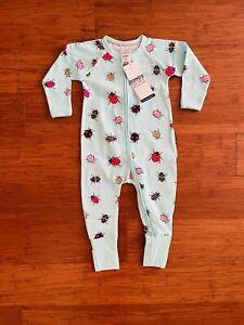 Bonds Baby Lady Bug Blue Red Black Zip Wondersuit Size 0 BNWT