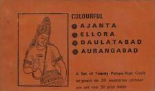 Vintage Booklet of 20 Removable Postcards- Ajanta,Ellora,Daulatabad,Aurangabad