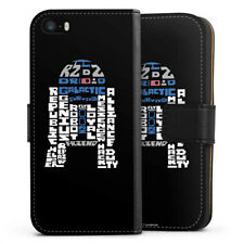 Apple iPhone SE Tasche Hülle Flip Case - R2-D2 Typo