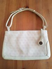 Dooney & Bourke Monogram Small Shoulder Bag/Clutch - Natural Canvas/Leather Trim
