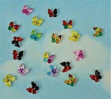 Miniature / mini butterfly resin cabochon x 20, flat back, embellishment