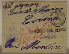POSTA MILITARE ALBANIA n°1 BUSTA CON SEGNATASSE 1.2.1916  #XP501C