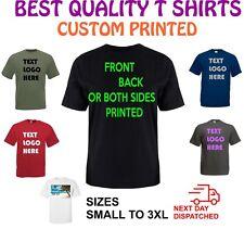 Custom printed T shirt Personalised,Printed,Birthday,Stag,Gift,Work,Logo,Text