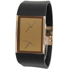 Philippe Starck watch Ph5025 Black Silicon Band Rose Gold Face