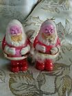"""Vintage Hard Plastic Santa Claus Christmas Ornament Candy Container 4.25"""""""