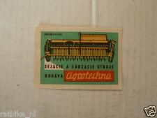 LUCIFERS,MATCHBOX LABELS TRACTOR TREKKER RUSSIAN ? AGROTECHNA DODAVA STROJE G