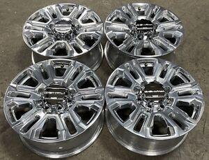 """GMC Denali Sierra 2500 3500 HD 8 Lug Polish OEM 20"""" Wheels Rims 11-22 5957 #2380"""