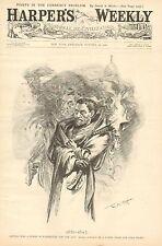 Political Cartoon, Guiteau, Altgeld, 1881-1897, W.A. Rogers, Vintage 1896 Print