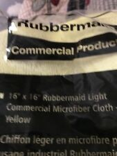 Rubbermaid 1820584 Microfiber Cleaning Cloths, Yellow, 24 Cloths (RCP1820584)