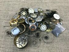 Watches Faces Parts Movements-Spares & Repairs Job Lot Of Old Vintage Antique