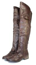 legend-27 Fashion Over Knee Zipper Casual Women's Winter Boots Shoes Brown 6.5