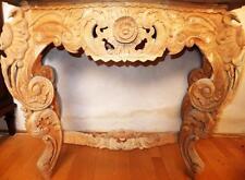 MURO SALOTTO tavolo credenza console in legno pregiato scolpito table CREDENZA BAROCCO