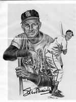 STAN MUSIAL SIGNED 8X10 ST LOUIS CARDINALS HALL OF FAMER