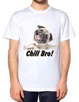Funny Pug Chill Bro Mens Tshirt Animal Dog Drug T Shirt Kids