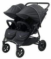Valco Baby Neo Twin Lightweight All Terrain Twin Baby Double Stroller Black NEW