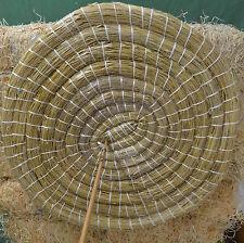 Strohzielscheibe 65cm, 6 cm Dick Zielscheibe Stroh Natur Bogensport mit Schlaufe
