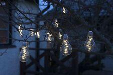 10 Solar Powered Hanging String  light Bulbs Garden Light/Fence/Wall/Tree/CLEAR