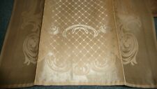 #326 vtg bathroom Hand Towels Unused Damask lot of 4 Champaine / Pale Peach