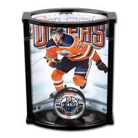 8c4e42849 CONNOR McDAVID Autographed Edmonton Oilers Acrylic Puck Curve Display UDA
