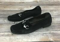 Stuart Weitzman Black Suede Loafers (Size 8)