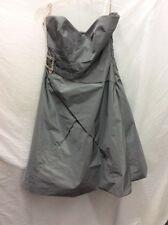 karen millen dress grey size 14, strapless