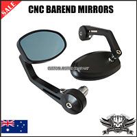 CNC Black Billet Bar End reverse retro Mirrors Triumph Street Triple 675 R 07-10