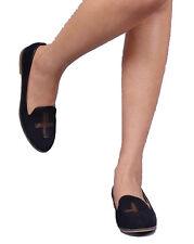 Brand NEW Black Sheer detail SLIP ON LOAFER MOCCASIN WOMEN FLAT Shoes Size 7.5