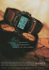 1994 Timex Expedition Indiglo Night-Light Watch Original Vintage Print Watch Ad