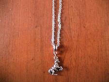 collier 46 cm avec pendentif cheval 17x16